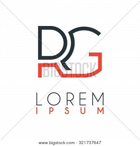 The Logo Between The Letter R And Letter G Or Rg With A Certain Distance And Connected By Orange And