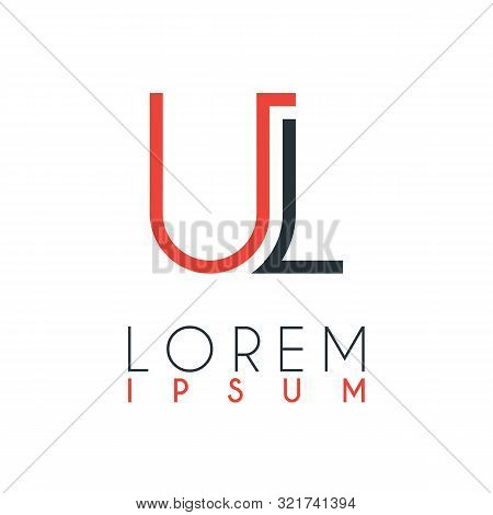 The Logo Between The Letter U And Letter L Or Ul With A Certain Distance And Connected By Orange And