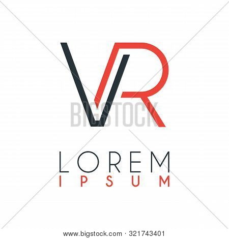 The Logo Between The Letter V And Letter R Or Vr With A Certain Distance And Connected By Orange And