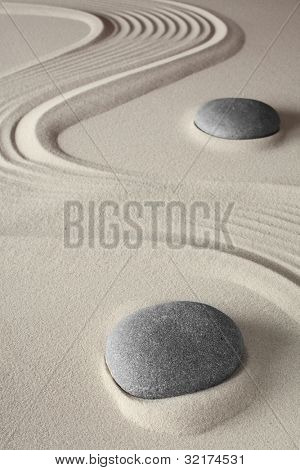 meditation background japanese zen garden tao buddhism concept for relaxation spirituality harmony and concentration conceptual for spa and wellness treatment poster