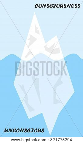 Iceberg Metaphor Structural Model For Psyche Or Diagram Of Id, Coping Mechanism In Psychology Where