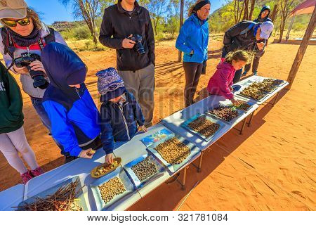 Kings Creek Station, Northern Territory, Australia - Aug 21, 2019: Families With Children Observe Va