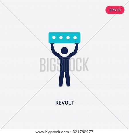 two colored revolt vector icon from army and war.