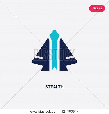two colored stealth vector icon from army and war.