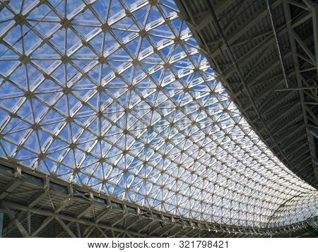 urban glass roof perspective abstract