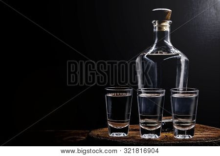 Aguardiente Or Aguardente Traditional Spanish And Brazilian Alcoholic Drink, Strong Drink, Grape Bra