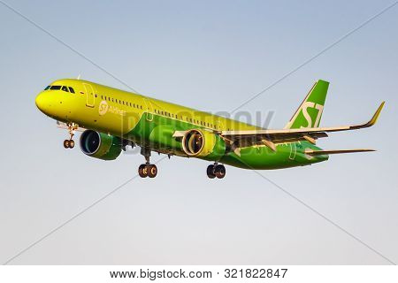 Moscow, Russia - June 20, 2019: Aircraft Airbus A321-271n Vq-bdi Of S7 Siberia Airlines Landing At D