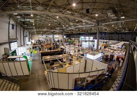 Poznan, Wielkopolskie / Poland-september, 12, 2019: Exhibition Stands At The Drema Fair. Poznan Inte