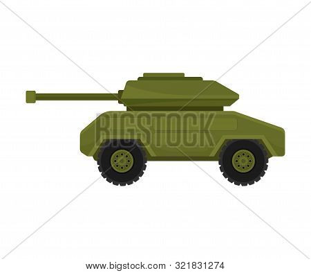 Infantry Fighting Vehicle On Wheels. Vector Illustration On A White Background.
