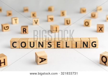 Counseling - Word From Wooden Blocks With Letters, Psychological Talking Therapies Concept, Random L