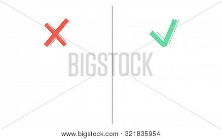 Tick Cross Sign Empty Vector Photo Free Trial Bigstock