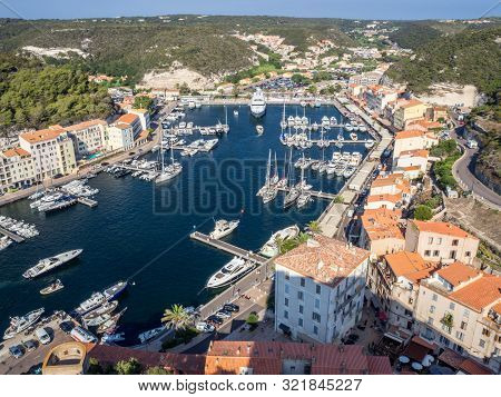 (corsica - France) - 23rd August 2019 - View Of The Port Of Bonifacio