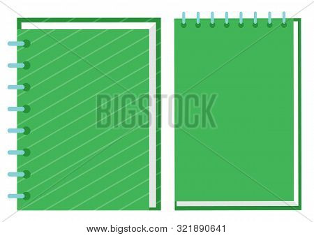 Books vector, notebook and textbook isolated printed material for school and education. Encyclopedia closeup, manual getting knowledge in university poster