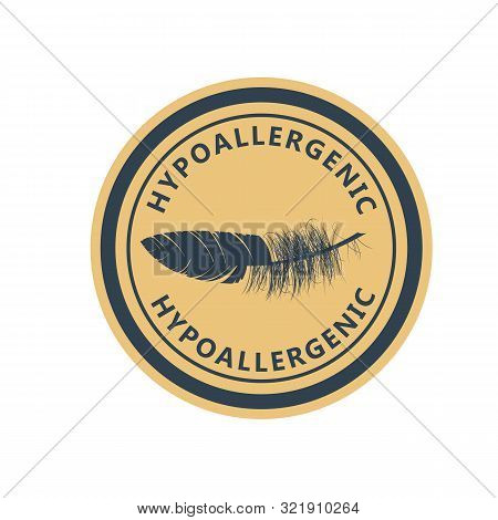 Hypoallergenic Tested Product Logo - Label For Hypoallergenic Package, Dermatology Test Logo For Sen