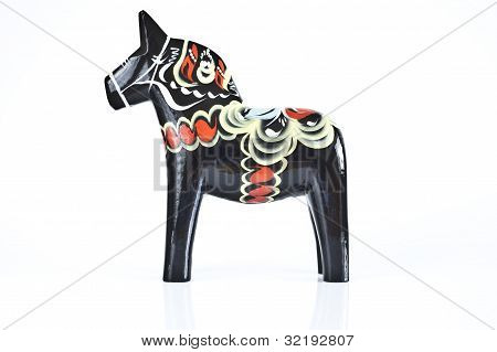 A Swedish souvenir called the dala horse poster