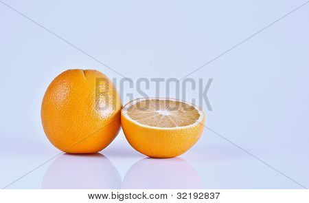 One and a half orange