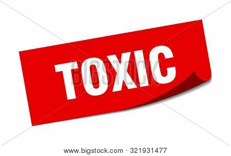 Toxic Sticker. Toxic Square Isolated Sign. Toxic