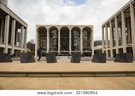 New York City - April 19, 2019: The Lincoln Center Plaza In Nyc Seen On April 19, 2019. Lincoln Ctr.