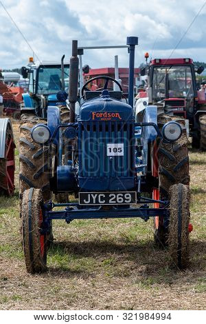 Haselbury Plucknett.somerset.united Kingdom.august 18th 2019.a Vintage Fordson Major Is On Display A