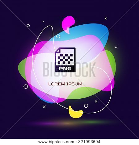 Black Png File Document. Download Png Button Icon Isolated On Dark Blue Background. Png File Symbol.
