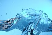 Water wave background image with abstract colors poster