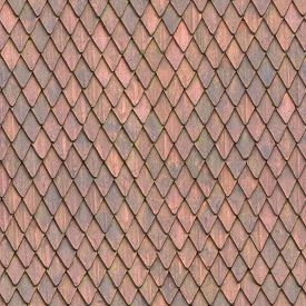 Seamless Roof Tile Texture Square Material Of European Medieval Building