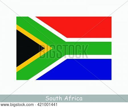 National Flag Of South Africa. South African Country Flag. Republic Of South Africa Detailed Banner.