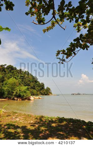 Beautiful Shore With Nearby Island