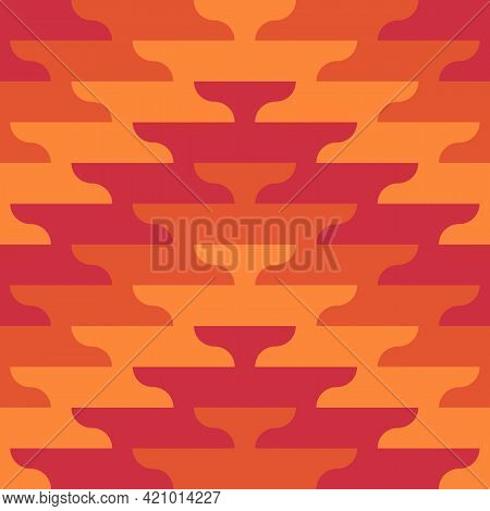 Seamless Pattern. Zigzag Lines. Ethnic Ornament. Embroidery Background. Tribal Wallpaper. Ethnical F