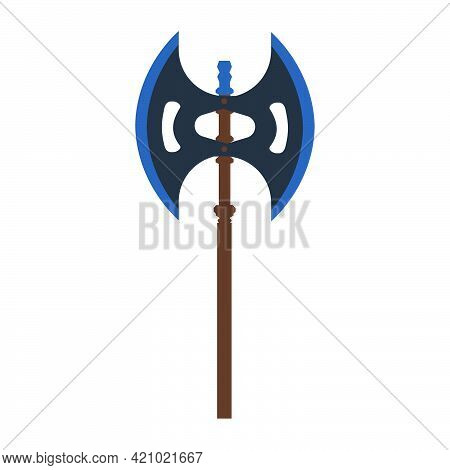 Axe Tool Vector Illustration Wood Weapon Symbol Icon. Heavy Axe Blade Warrior Weapon Equipment. Hand
