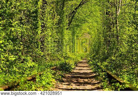Tunnel Of Love Is Famous Touristic Place And Romantic Travel Destination. Unique Place Where The Rai