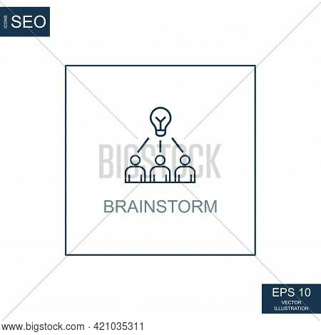 Abstract Business Icons, Ceo Team Brainstorming - Vector Illustration