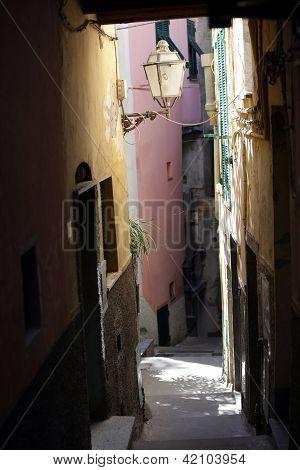 Riomaggiore - one of the cities of Cinque Terre in italy