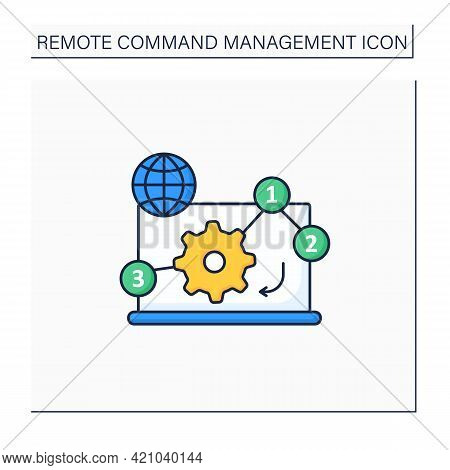 Manage Priorities Color Icon. Online Working. Priority Execution Works. Important Tasks. Task Distri