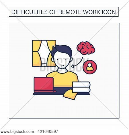 Remote Work Color Icon. Learning And Mentorship. Improve Work Skills. Studying New Information. Care