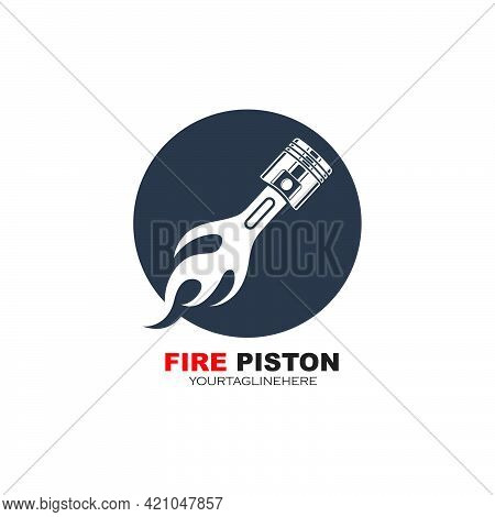 Piston Vector Icon Illustration Design