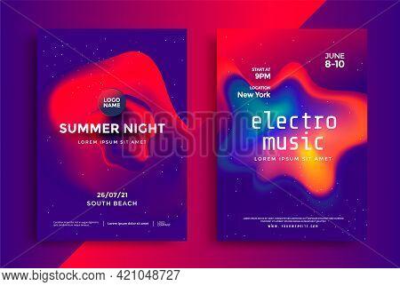 Electronic Music Festival In Duotone Color Design