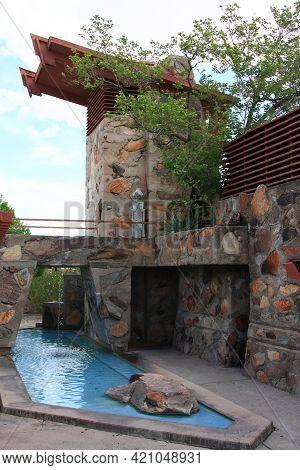 Scottsdale, Arizona, August 30, 2008: Frank Lloyd Wright\'s Home In Scottsdale, Az Known As Taliesin