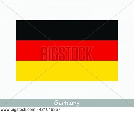 National Flag Of Germany. German Country Flag. Federal Republic Of Germany Detailed Banner. Eps Vect