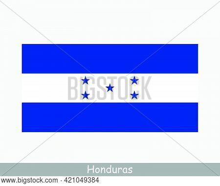 National Flag Of Honduras. Honduran Country Flag. Republic Of Honduras Detailed Banner. Eps Vector I
