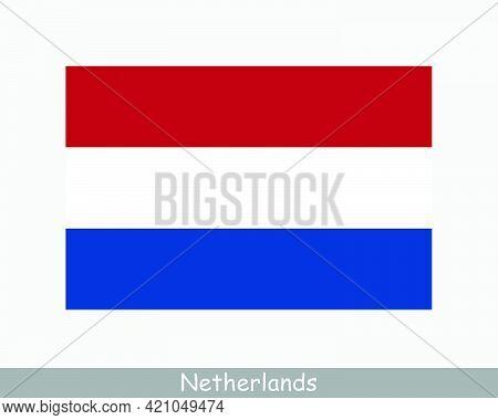 National Flag Of Netherlands. Dutch Country Flag. Holland Detailed Banner. Eps Vector Illustration C
