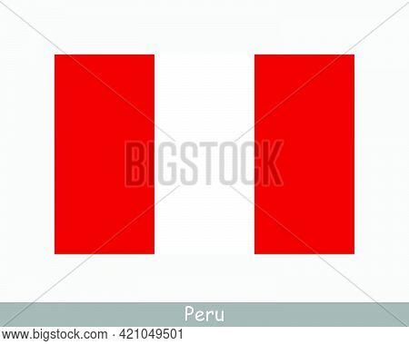 National Flag Of Peru. Peruvian Country Flag. Republic Of Peru Detailed Banner. Eps Vector Illustrat