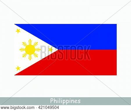 National Flag Of Philippines. Filipino Country Flag. Republic Of The Philippines Detailed Banner. Ep
