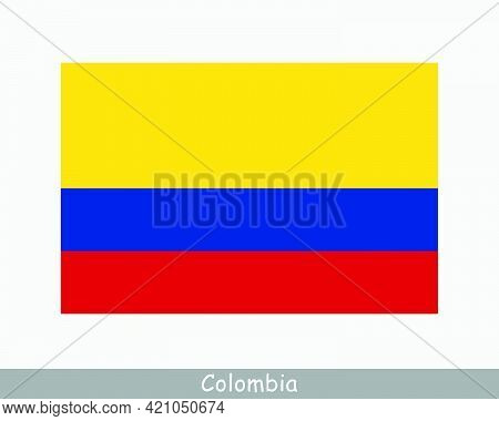 National Flag Of Colombia. Colombian Country Flag. Republic Of Colombia Detailed Banner. Eps Vector