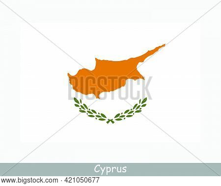National Flag Of Cyprus. Cypriot Country Flag. Republic Of Cyprus Detailed Banner. Eps Vector Illust