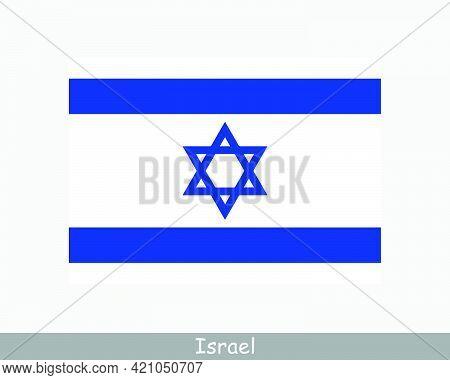 National Flag Of Israel. Israeli Country Flag. State Of Israel Detailed Banner. Eps Vector Illustrat