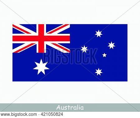 National Flag Of Australia. Australian Country Flag. Commonwealth Of Australia Detailed Banner. Eps