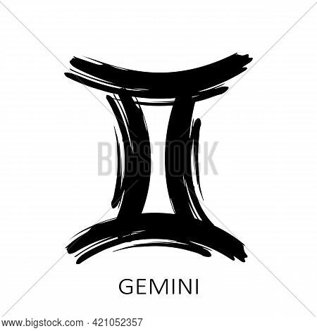 Zodiac Sign Gemini Isolated On White Background. Zodiac Constellation. Design Element For Horoscope