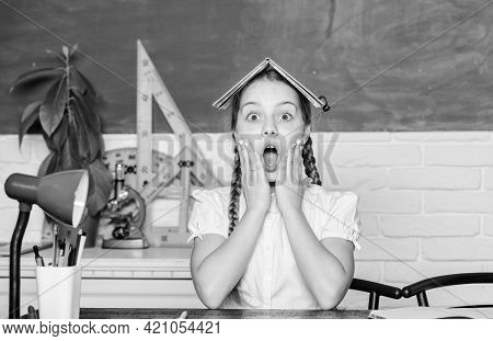 Oh No. Small Girl Study With In School. Formal Informal And Nonformal Education. Future Success Is S