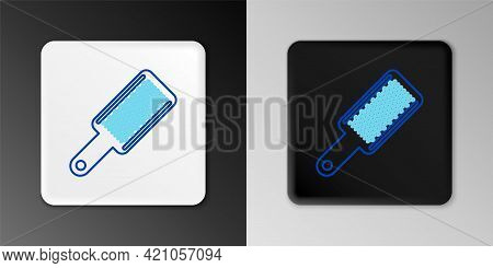 Line Grater Icon Isolated On Grey Background. Kitchen Symbol. Cooking Utensil. Cutlery Sign. Colorfu